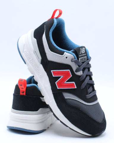 NEW BALANCE-997HAI Low Top Sneaker (Pre School) - Black Red-VIM.COM