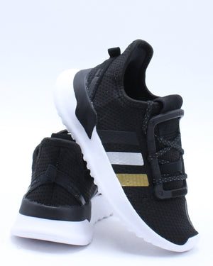 ADIDAS-U Path Run C Shoe (Pre School) - Black Gold-VIM.COM