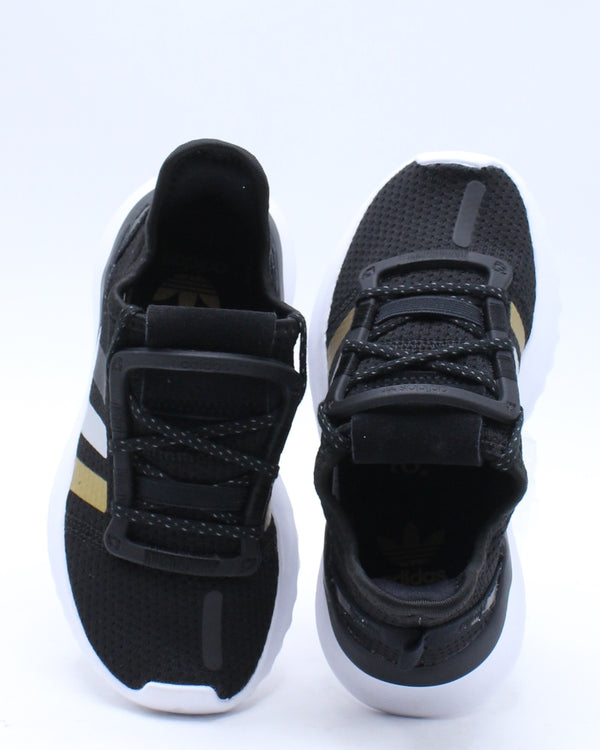 U Path Run C Shoe (Pre School) - Black Gold