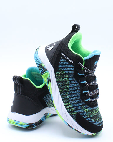 SKECHERS-Boys 98325l Low Top Sneaker - Blue Green-VIM.COM