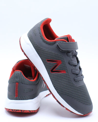 NEW BALANCE-Boys 455 Y Low Top Sneaker (Pre School) - Grey Red-VIM.COM