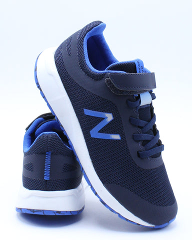 NEW BALANCE-Boys 455 Y Low Top Sneaker (Pre School) - Blue-VIM.COM