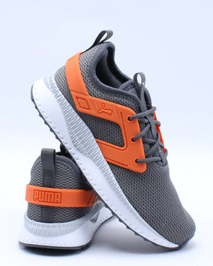 PUMA-Kid's Pacer Excel Int Boys Ac Ps Sneaker (Pre School) - Grey Orange-VIM.COM