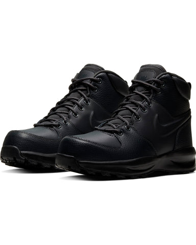 NIKE-Manoa Leather Boot (Grade School) - Black-VIM.COM