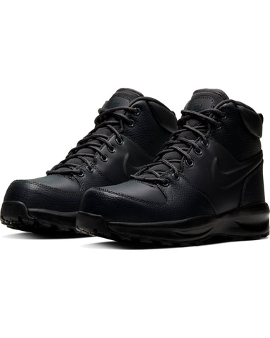 NIKE-Manoa Leather Boot (Grade School) - Navy-VIM.COM