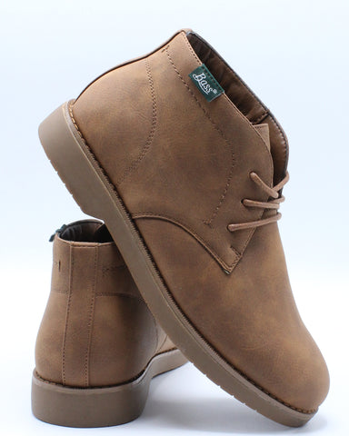 Junior Mid Chukka Boot (Grade School) - Brown-VIM.COM