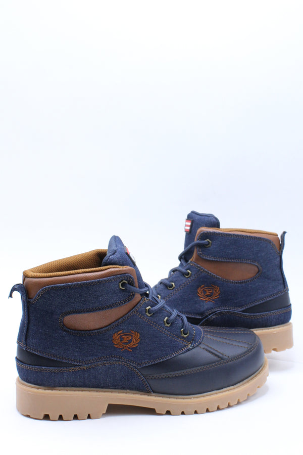 Kid's Post P Denim Boot (Grade School) - Denim Tan