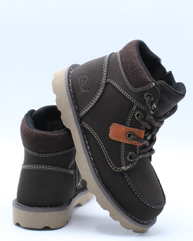 SKECHERS-Bowland Boot (Pre School) - Brown-VIM.COM