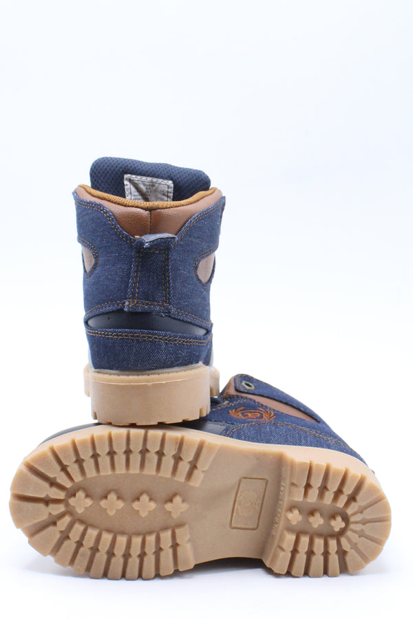 Kid's Post P Denim Boot (Pre School) - Denim Tan