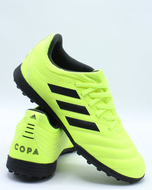 ADIDAS-Kid's Copa 19.3 Tf J Soccer Shoe (Grade School) - Yellow Black-VIM.COM