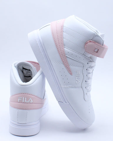 FILA-Girls Vulc 13 Color Pop Sneaker - White Pink-VIM.COM