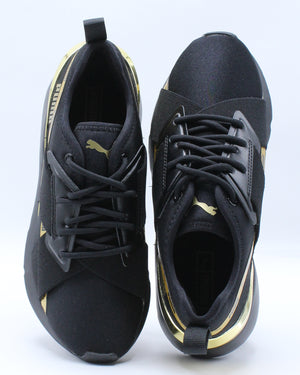 Muse X-2 Metallic Jr Sneaker (Grade School) - Black Gold