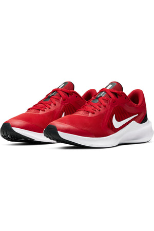 NIKE-Kid's Downshifter 10 Sneaker (Grade School) - Red White-VIM.COM