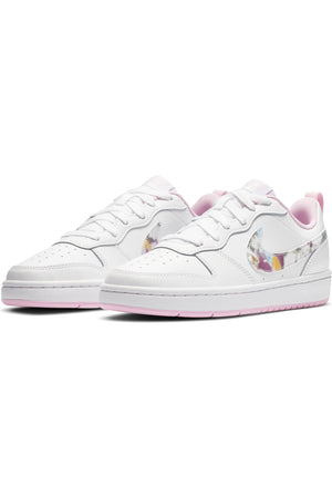 Kid's Court Borough Low 2 Sneaker (Grade School) - White Pink
