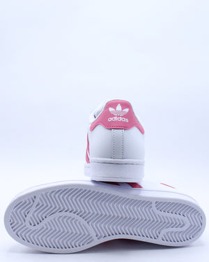 Kid's Superstar J Sneaker (Grade School) - White Pink