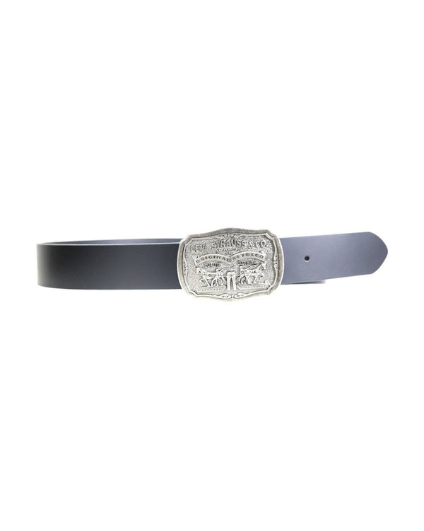 LEVI'S-Larger Original Buckle Belt - Black-VIM.COM