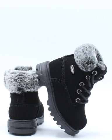 Empire Hi Fur Boot (Toddler) - Black-VIM.COM