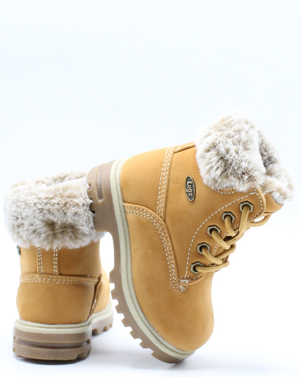 Empire Hi Fur Boot (Toddler) - Wheat-VIM.COM