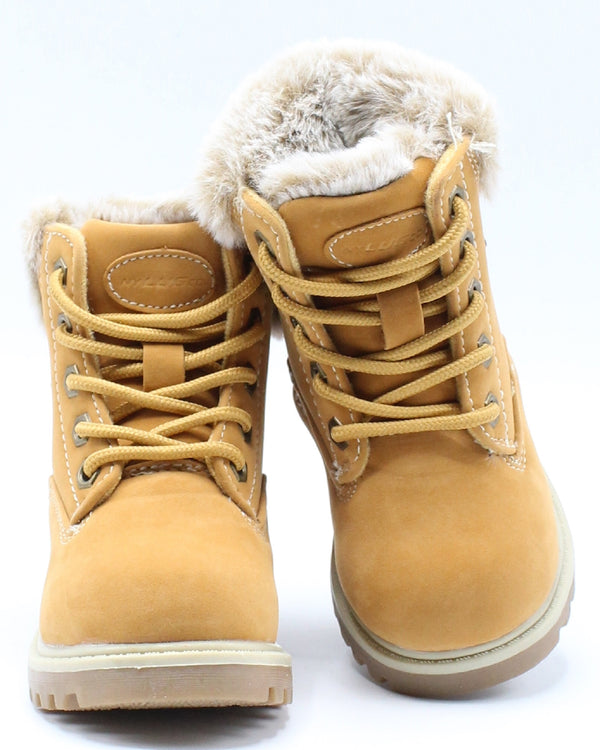 Empire Hi Fur Boot (Toddler) - Wheat