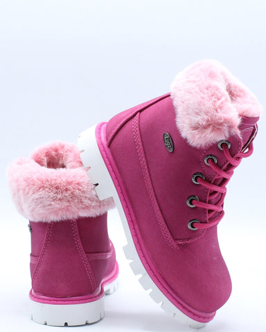 Empire Hi Fur Boot (Toddler) - Fuchsia-VIM.COM