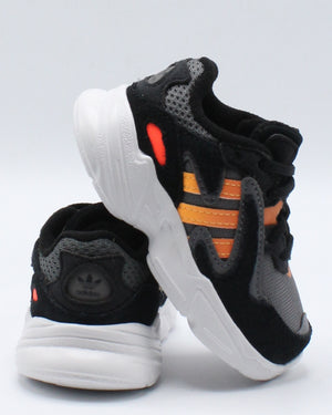 ADIDAS-Yung 96 Chasm Sneaker (Toddler) - Black Red-VIM.COM