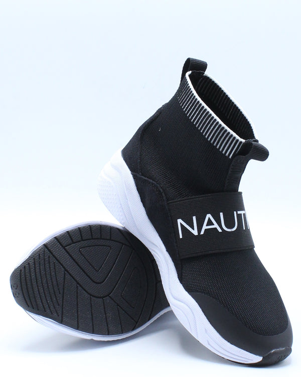 Silas Sneaker (Toddler) - Black White