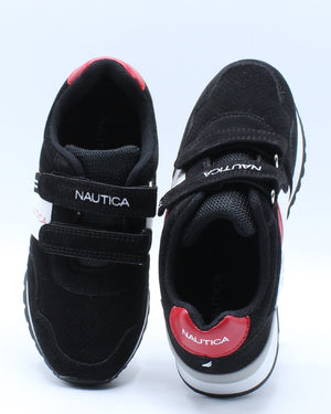 Maxim Velcro Sneaker (Toddler) - Black