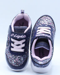 Glimmer Kicks Sneaker (Toddler) - Blue