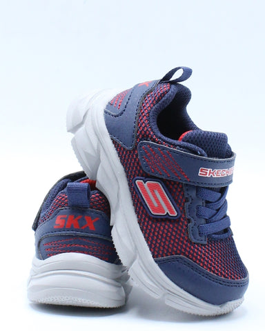 SKECHERS-Advance Sneaker (Toddler) - Blue Red-VIM.COM
