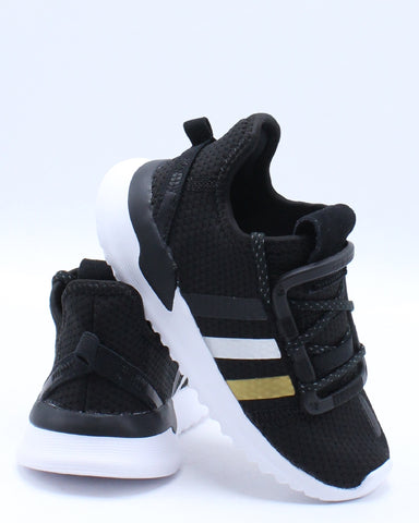 ADIDAS-U Path Run I Sneaker (Toddler) - Black Gold-VIM.COM