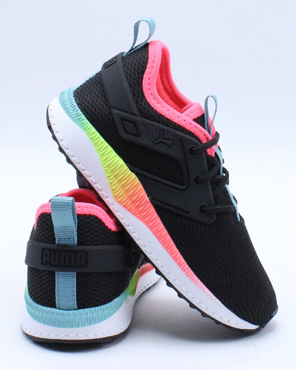 Kid's Pacer Next Excel Rainbow Inf Sneaker (Toddler) - Black Blue