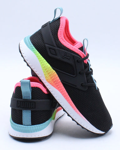 PUMA-Kid's Pacer Next Excel Rainbow Inf Sneaker (Toddler) - Black Blue-VIM.COM