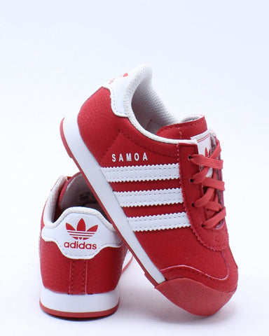 ADIDAS-Kid's Samoa I Sneaker (Toddler) - Red White-VIM.COM