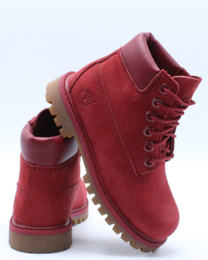 TIMBERLAND-6 Inch Premium Boot (Toddler Pre School) - Red-VIM.COM