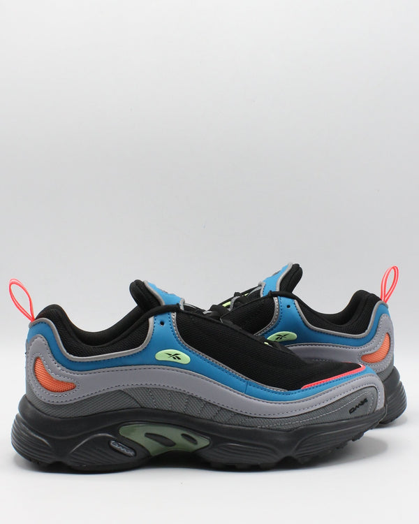 REEBOK Men'S Daytona Dmx Sneaker - Black Blue Grey - Vim.com