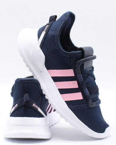 ADIDAS-U Path Run Sneaker (Pre School) - Navy Pink-VIM.COM