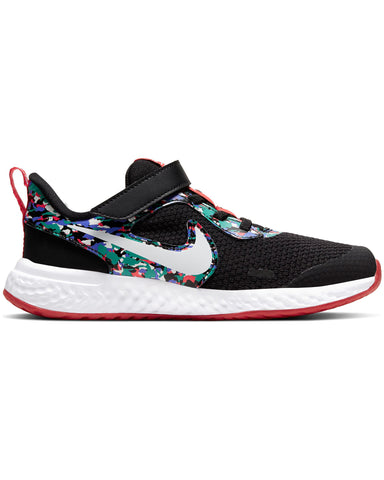 NIKE-Revolution 5 Melted Crayon Sneaker (Pre School) - Black Blue Red-VIM.COM