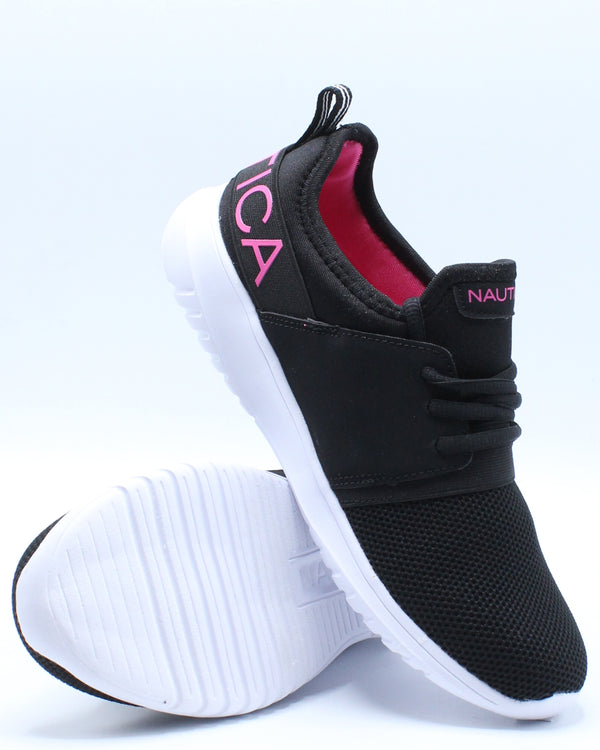 Kappil Lace Up Sneaker (Pre School) - Black Pink