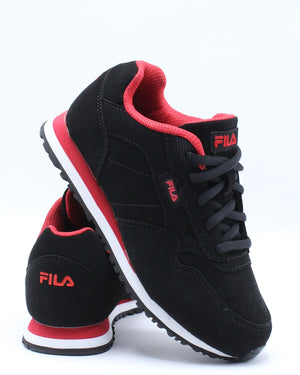 FILA-Cress Sneaker (Pre School) - Black Red-VIM.COM
