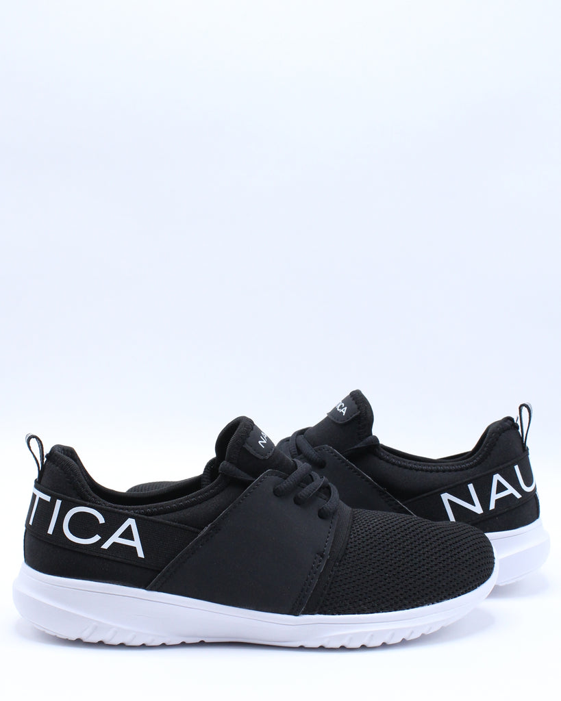 Kappil Lace Up Sneaker (Pre School) - Black