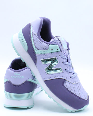 NEW BALANCE-574KWB Low Top Sneaker (Pre School) - Lavender-VIM.COM