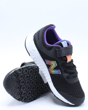 Girls 455 Y Low Top Sneaker (Pre School) - Black Purple