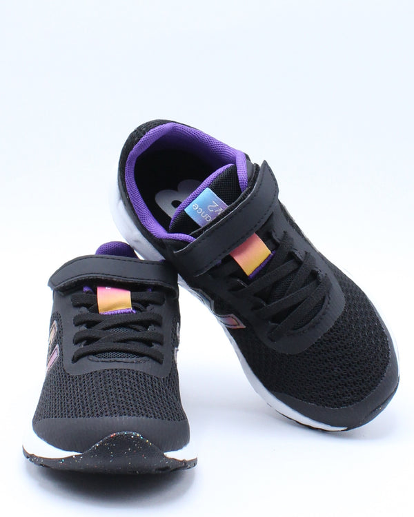 Girls 455 Y Low Top Sneaker - Black Purple