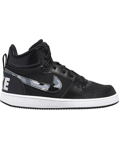 NIKE-Court Borough Camo Sneaker (Grade School) - Black White-VIM.COM