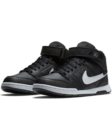 Sb Mogan Mid 2 Jr Sneaker (Grade School) - Black White