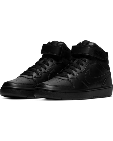 NIKE-Court Borough Mid 2 Sneaker (Grade School) - Black-VIM.COM