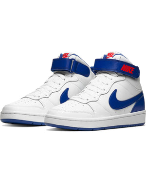 Court Borough Mid 2 Sneaker (Grade School) - White Royal
