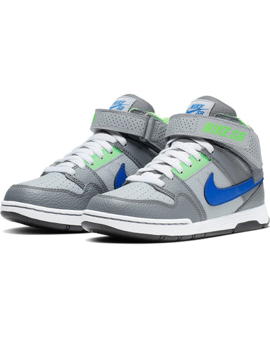 NIKE-Sb Mogan Mid 2 Jr Sneaker (Grade School) - Grey Royal-VIM.COM