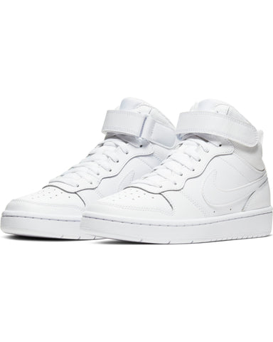 NIKE-Court Borough Mid 2 Sneaker (Grade School) - White-VIM.COM