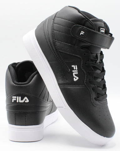 FILA-Vulc 13 Mp Diamond Sneaker (Grade School) - Black White-VIM.COM
